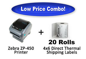 Zebra ZP 450 CTP Label Thermal Printer UPS USPS FedEx