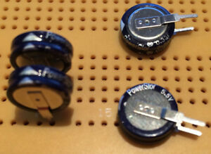 0.1F 5V Supercapacitor PowerStor PB-5R0V104-R Memory Backup Job Lot Multi Qty