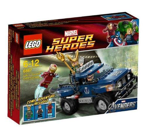 LEGO Super Heroes 6867 Lokis Cosmic Cube Escape new sealed box retirot set