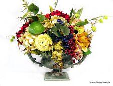 Silk Floral Arrangement Centerpiece Old World Urn 4 Season CUSTOM DESIGNS