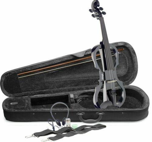Softcase und Kopfhörer EVN X-4//4 BK 4//4 E-Violin Set mit schwarzer E-Violine