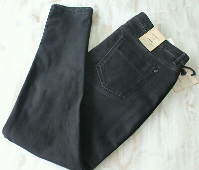 M/&S Per Una Speziale Sizes 8S 10M Black Stretch Bootcut Jeans with Piping Bnwt