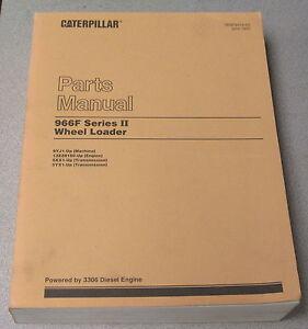 caterpillar cat 966f series ii wheel loader parts manual 9yj1 1995 rh ebay com Caterpillar D6 966F Undercarriage