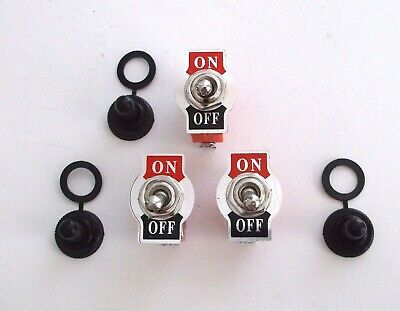 6 BBT Marine Grade On//Off Toggle Switches with Waterproof Boots