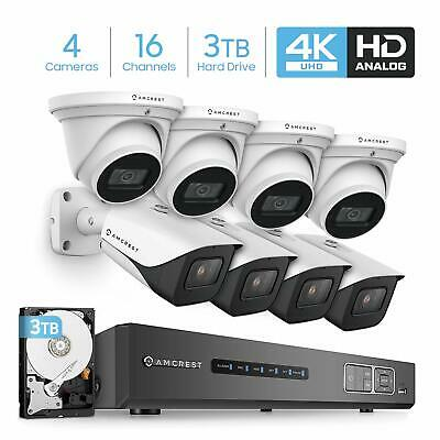 8MP Security DVR for Analog Security Cameras /& IP Cameras Cameras NOT Included AMDV8M16-2TB Pre-Installed 2TB HDD Amcrest 4K UltraHD 16 Channel DVR Security Camera System Recorder Remote Access