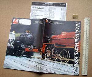 Adroit 1981/82 Lima Full Range Uk Catalogue. 00, N & 0 Gauges. Very Elaborate (r144)