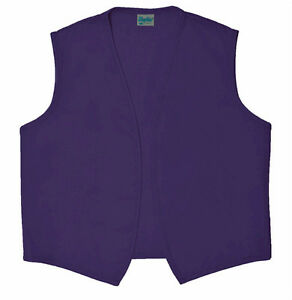 Daystar 740NP No Pocket Purple Vest for Aladdin or Dr Who Costume ~ Made in USA