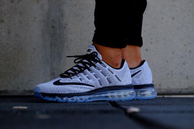 cheap for discount d5aef d4d0e Nike Air Max 2016 White Black Mens Sz 7.5 806771 101 Brand New Shoes Running