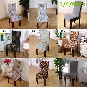 Chargement De Limage 1 4 6 Pcs Stretch Spandex Chair Covers