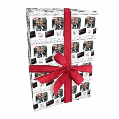 ADD A NAME! Prison Break style Personalised Birthday Gift Wrap With 2 Tags