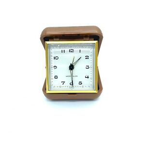 Westclox classic travel alarm clock plastic case made in Taiwan camping vacation