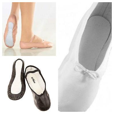 NEU So Danca BAE90 Ballettschläppchen 23-45 Leder Ballett schwarz/weiß/rosa