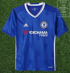 huge discount 81a33 92ff8 Details about Chelsea Home Shirt - adidas CFC Boys Football Jersey - All  Sizes