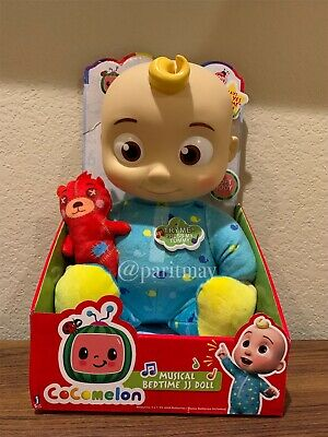 New Cocomelon Plush Bedtime Jj Doll 10 With Sound 2 Day Shipping Ebay