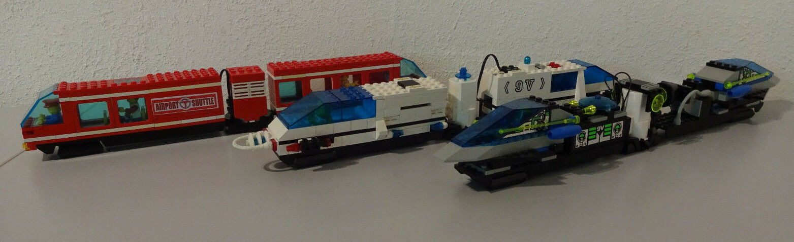 (G11) Lego 6399 6990 6691 Monorail Airport Shuttle 9 Volt Selection Nur of Train