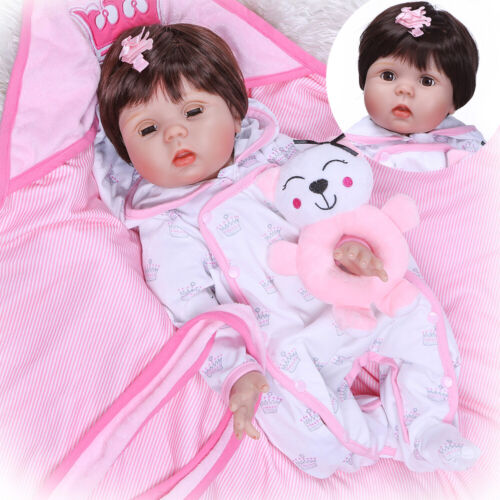Realistic Looking Reborn Baby Dolls Weighted Body Girl Baby Eyes Can Close/&Open