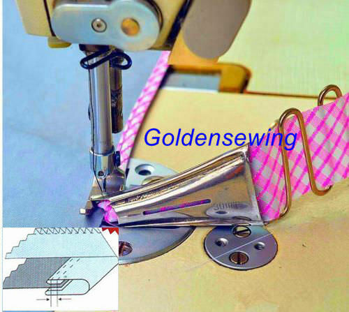 Adjustable Double Fold Right Angle Bias Binder For JUKI DDL-8500 8700 5550 8300