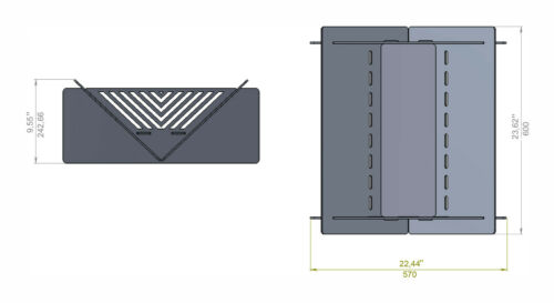 """laser Fire pit Quadro Line 23/"""" DXF files for plasma DIY CNC water cutting"""