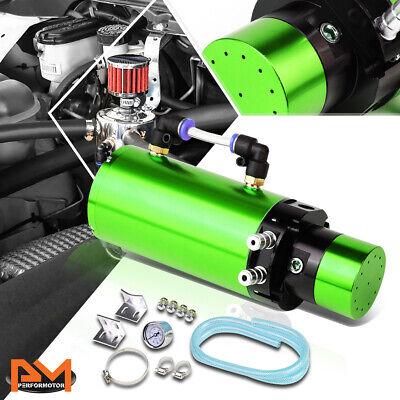 "7/""X2.5/""BILLET ALUMINUM ENGINE OIL CATCH RESERVOIR BREATHER TANK//CAN+GAUGE BLUE"