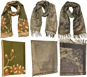 Womens-Ladies-Warm-Winter-Pashmina-Silk-Cashmere-Square-Long-Scarf-Wrap-Hijab