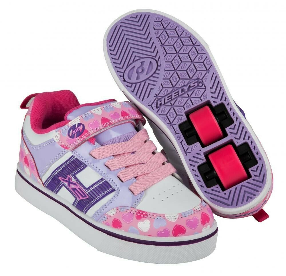 Heelys X2 Bolt Plus  ldrens Kids  shoes - Light Pink   purplec   Hearts  fashion