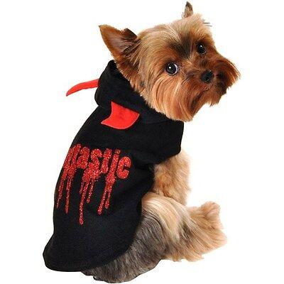 Simply Dog Fangtastic Dog Hoodie, Black