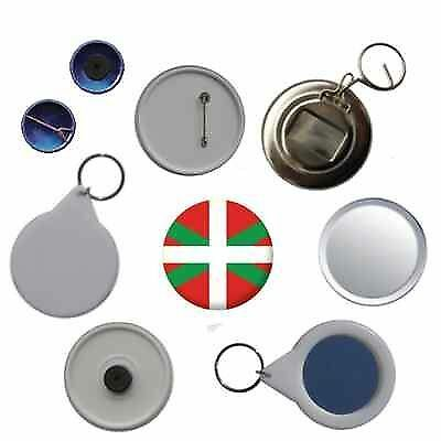 Basque Spain Flag Pin Button Badge Magnet Keyring Bottle Opener Mirror