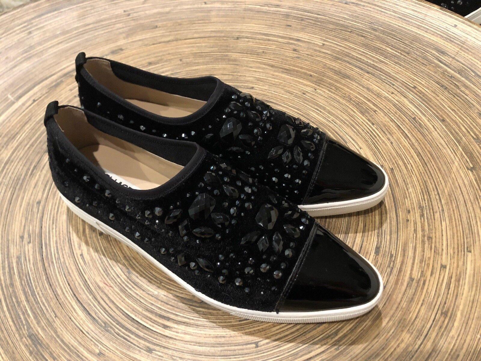 Hermosa Karl Lagerfeld Negro Negro Negro Brillo punto Resbalón en Zapatos Nuevos Talla 8.5  tiempo libre