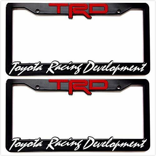 2 Black TRD Sport Toyota Racing Development License Plate
