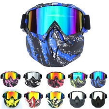 chrome Motorcycle Bike Helmet Goggles Detachable Mask Windproof Outdoor Sports Glasses Dual Sport bike Scooter Offroad