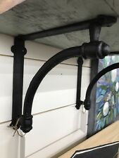 Cast Iron Shelf Bracket Corbel Kitchen Open Shelving Distressed Black Large