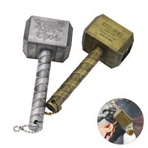 The-Avengers-Thor-Thor-039-s-Hammer-Metal-Bottle-Opener-Silver-Gold-Marvel-Fans-Gift