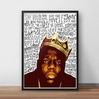 Biggie Smalls Poster A4 A3 HIP HOP INSPIRED WALL ART Print Notorious B.I.G