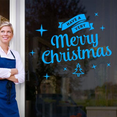 Tienen una feliz Navidad Navidad Tienda Ventana de Visualización Pegatinas de pared Calcomanías A414
