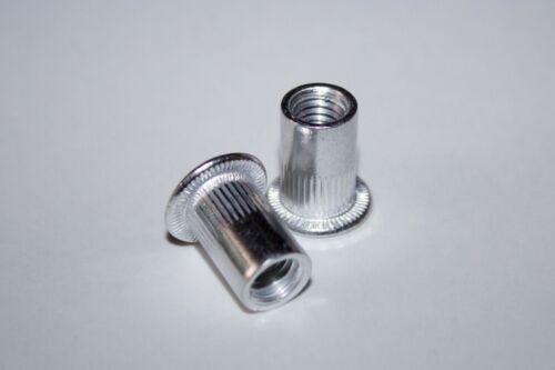 M12 Blindnietmuttern Alu Edelstahl Stahl verzinkt A2 Nietmutter Sechskant M3
