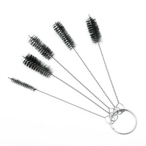 5pcs Nylon Cleaning Brush Set Test Tube Bottle Straw Washing Cleaner Bristle Kit