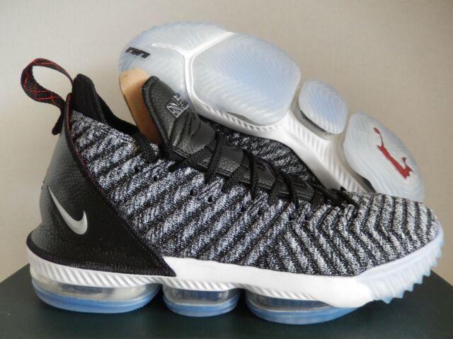 buy online 042d6 37d72 Nike Lebron James 16 XVI Oreo Black Metallic Silver White Ao2588-006 Size  9.5