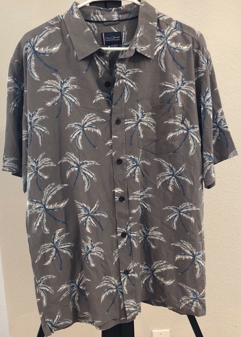 New  O'NEILL WINDY WOVEN CEM BUTTON UP SHORT SLEEVE SHIRT MEN's MEDIUM ONEILL