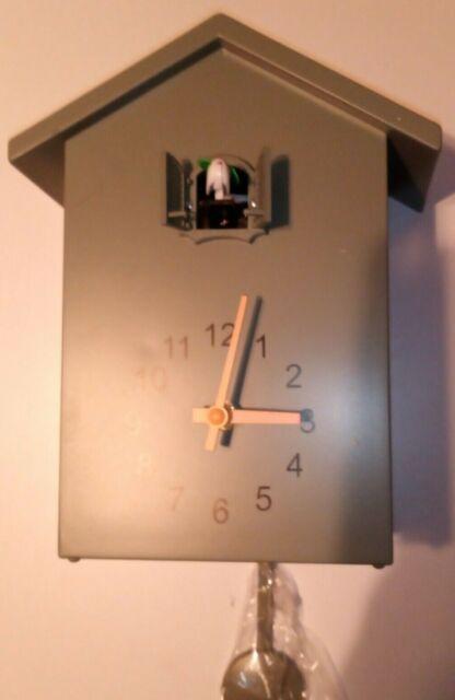 Cuckoo Clock Green Wall Clock Modern Quartz movement chalet-style 26cm