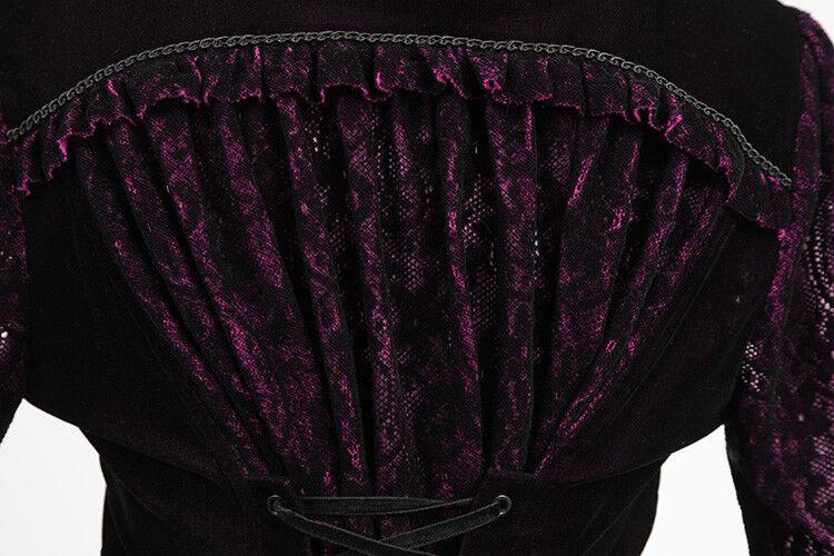 Punk Rave Rave Rave Vampiress Jas - Blouse Zwart-Paars - Gothic Lolita Elegant Y-497 6312d6