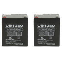 UPG 2 Pack - SEC1055 Zeus PC5-12XBEBALT11-Replacement Battery for Liftmaster 385