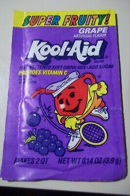 Vintage KOOL-AID Package Pouch Unopened Grape Tennis Art