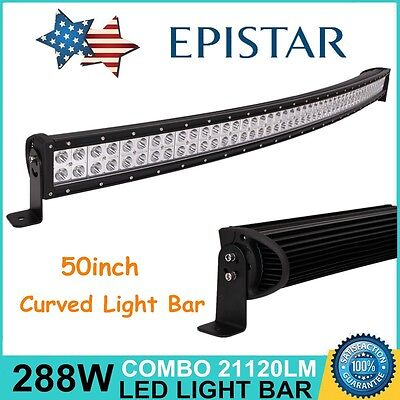 """44/"""",45/"""" inch 288W Epistar LED CREE Bar Flood Spot Offroad Driving lights 4WD"""
