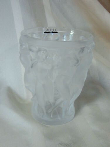LALIQUE BACCHANTES VASE BRAND NEW IN BOX #10547500 FROSTED CRYSTAL NUDE WOMEN FS