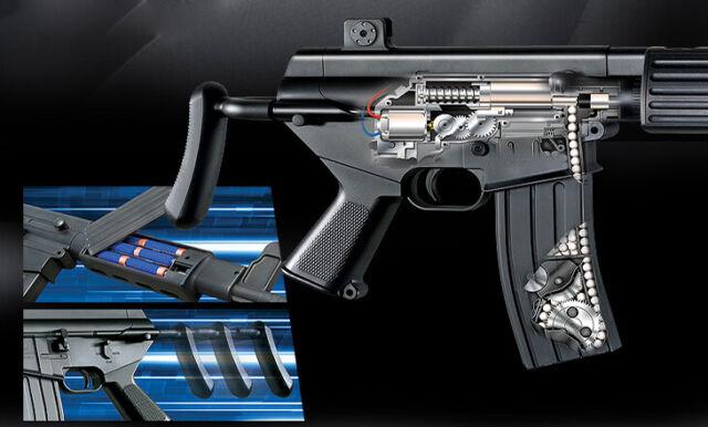 Academy Korea Full Size Electric Airsoft Pistol BB Replica Hand Toy Gun K1A SMG