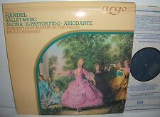 ZK 68 Handel Ballet Music Alcina Il Pastor Fido Ariodante ASMF Neville Marriner
