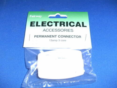 Fairway Permanent Connector 13Amp 3 Core White