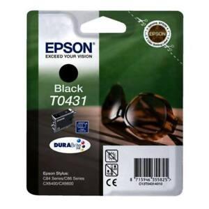 Original-Epson-T0431-Black-Sunglasses-C84-C86-CX6400-CX6600-Boxed-01-2016