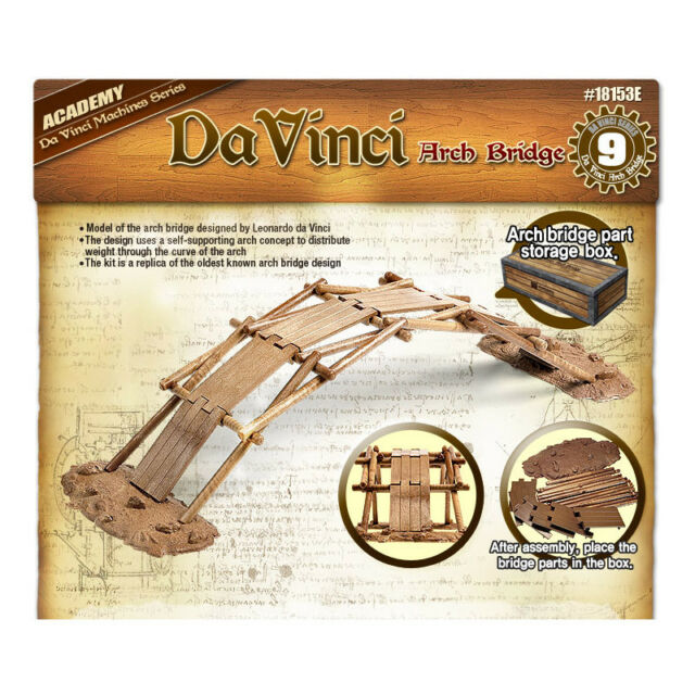 ACADEMY Da Vinci Machines Series [ Arch Bridge ] Science Model Kit 18153A