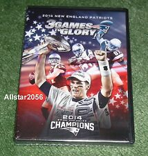 2015 NEW ENGLAND PATRIOTS~3 GAMES TO GLORY IV~3 DVD SET~ROAD TO SUPER BOWL 49